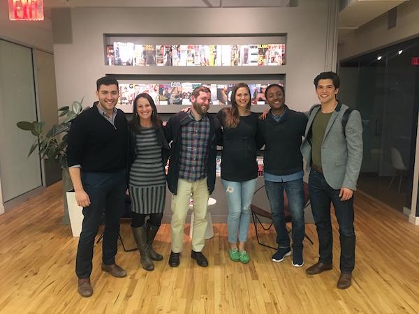 Some of the Board of Stokers in NYC. L-R: Derek Flanzraich, Caroline Andrew, John Trani, Rachel Roosevelt, Steve Larosiliere (me), Kurt Hildebrandt