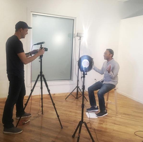 Me getting filmed by Matt Zuckerman of BZ Worldwide.