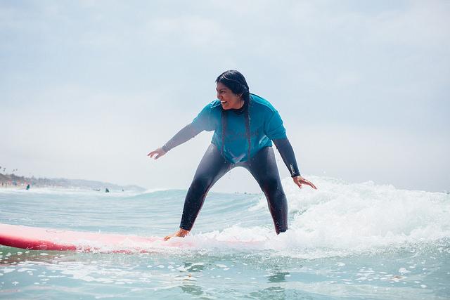 Kim Surfing