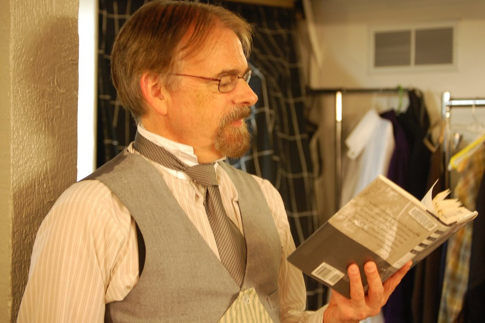 Actor Bill Durham backstage during Lascaux Entertainment's 2011 production of  The Elephant Man , directed by John Drouillard.  Photo by Nirvana Kowlessar.