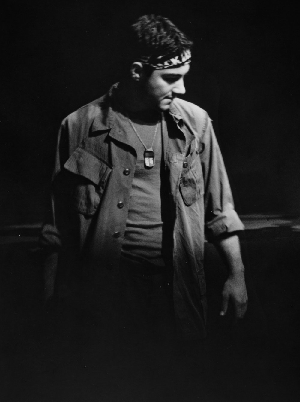 Chris Solari (Scooter) in Draw the Sneck Productions' 1996 | 1997 productions of  Tracers , directed by John Drouillard.  Photo by Christine Krench.