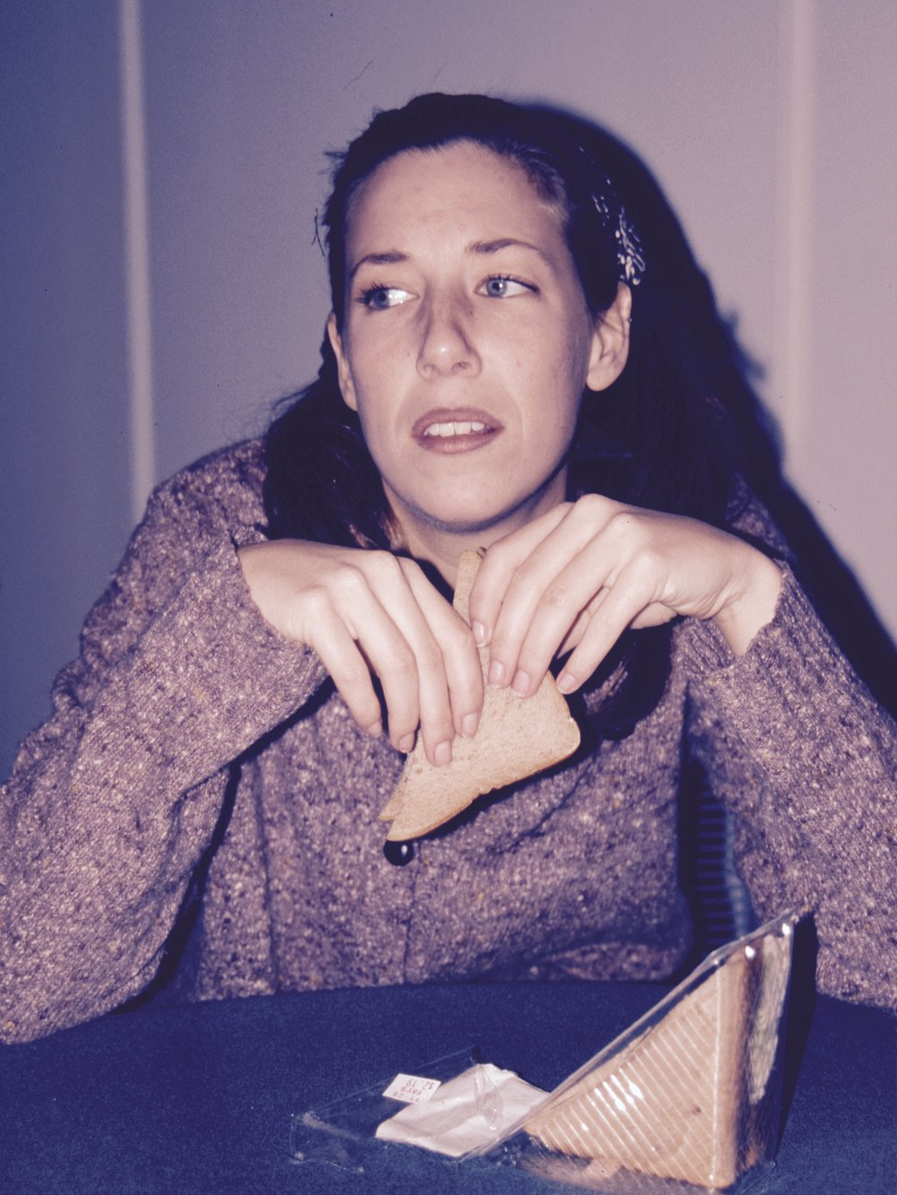 Jessica Randle (Anna) in Draw the Sneck Productions' 1997 production of  The Baltimore Waltz , directed by John Drouillard.  Photo by Natalie Drouillard.