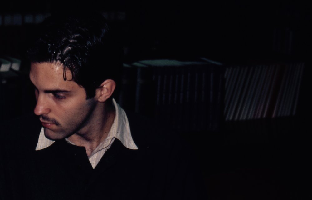 Charles Hess (Carl) in Draw the Sneck Productions' 1997 production of  The Baltimore Waltz , directed by John Drouillard.  Photo by Natalie Drouillard.