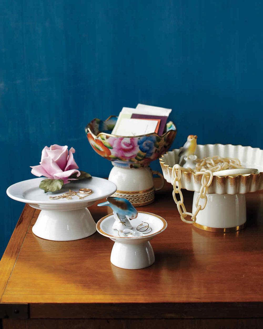 Pedestal Dishes   We want pedestal dishes for everrryything!  via  marthastewart