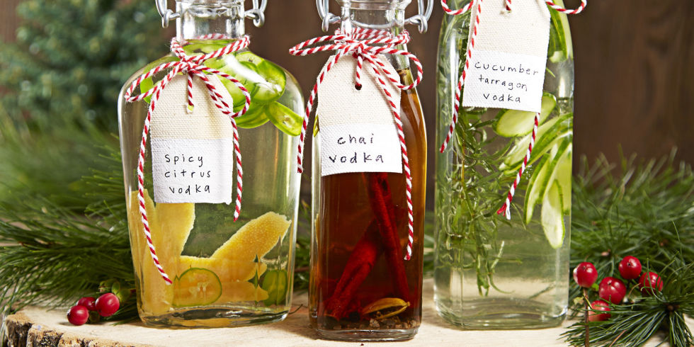 Infused Vodkas   & we all know a lover of fancy drinks.  via  goodhousekeeping