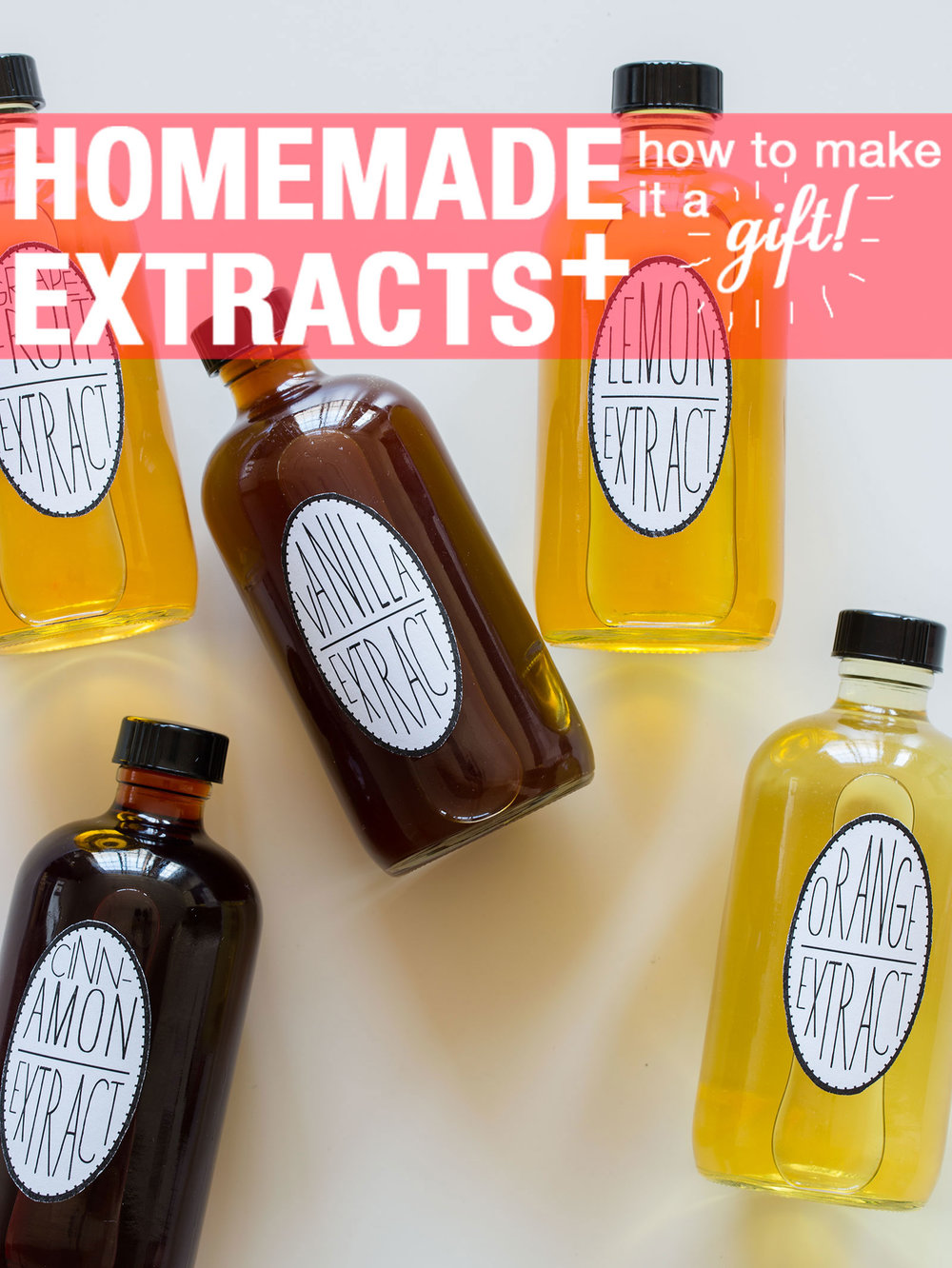 Homemade Extracts    You'll definitely feel oh so fancy making these.  via  spoonforkbacon