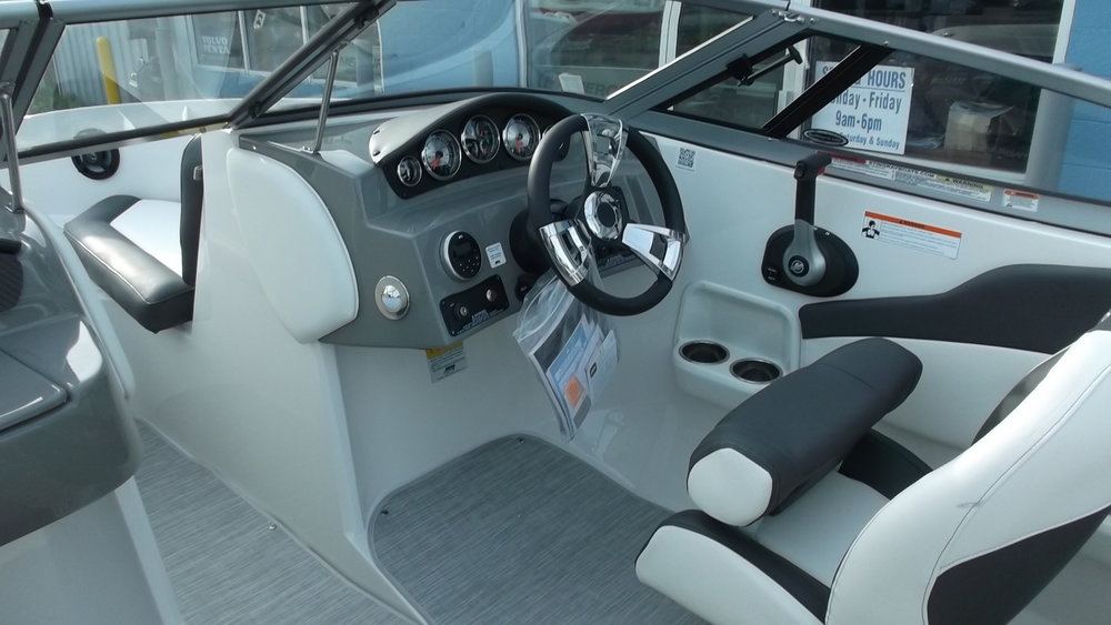 Sport bucket bolster seats, Jenson Stereo, Driver's side cupholders, Snap-in SeaGrass Flooring, and more
