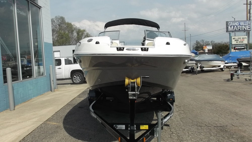 Bow boarding ladder, wash-down system, stereo remote, and dedicated stainless steel pop cleat for anchoring