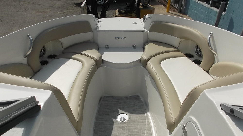 Deep wall sides, spacious bow seating, cooler, anchor storage/boarding ladder, and bow walk through