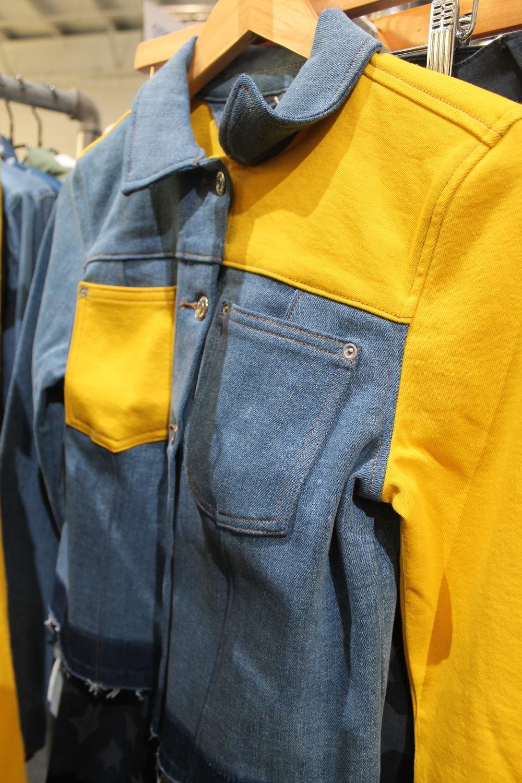 Yellow and denim R.E.A.L garment jacket