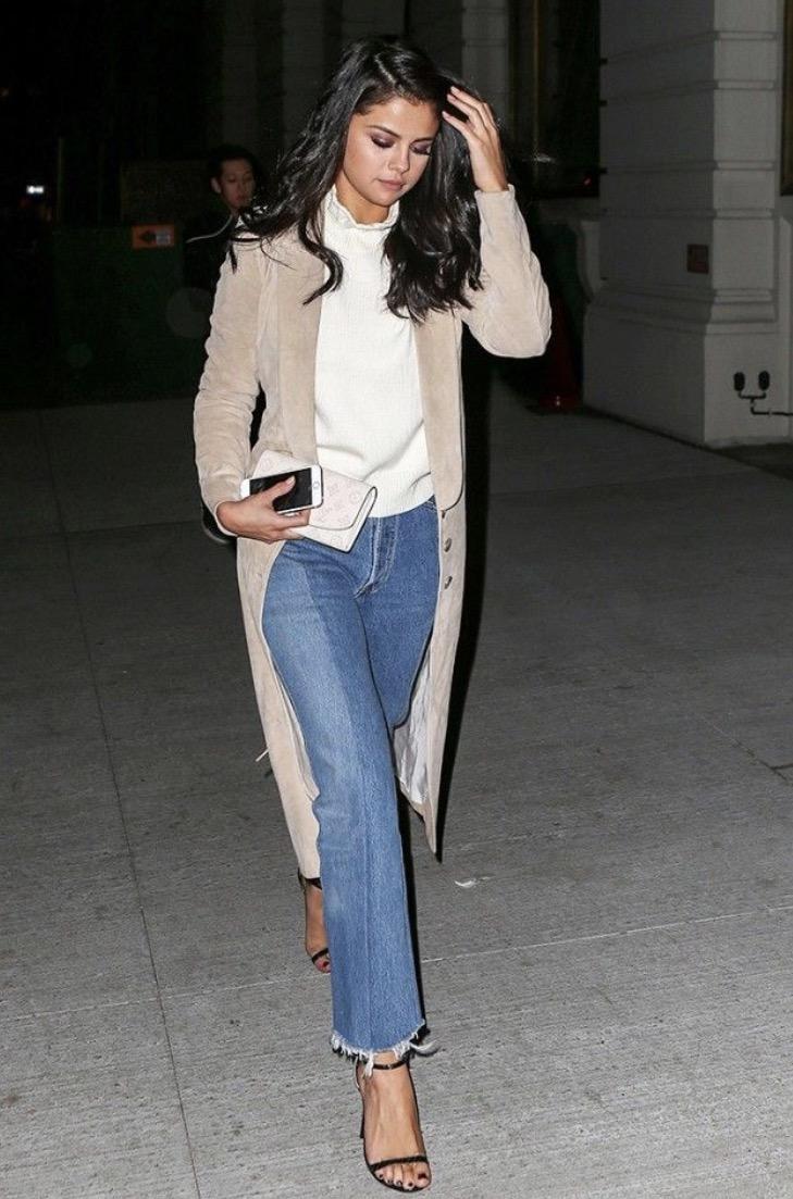 Selena Gomez in altered jeans