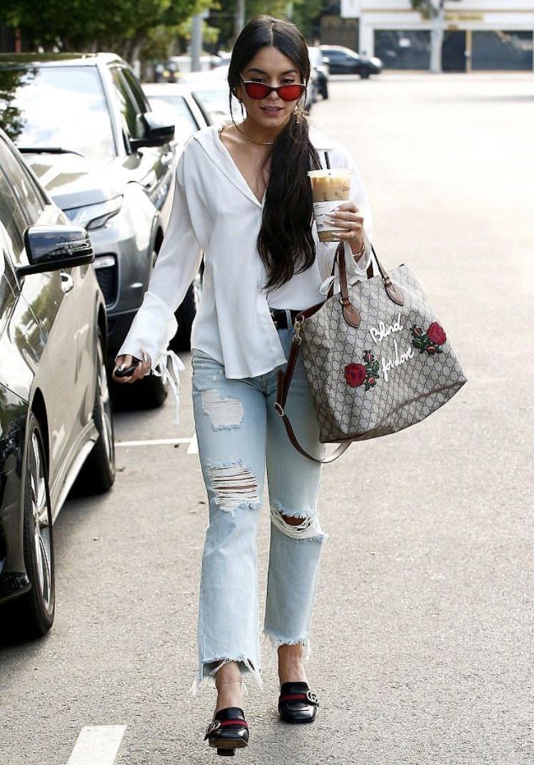 Vanessa Hudgens in frill jeans