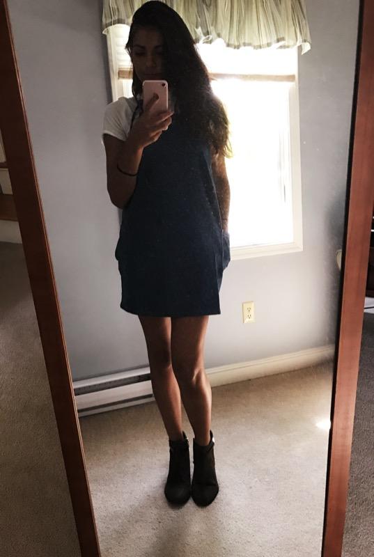 jumper / shirt /shoes ( similar )