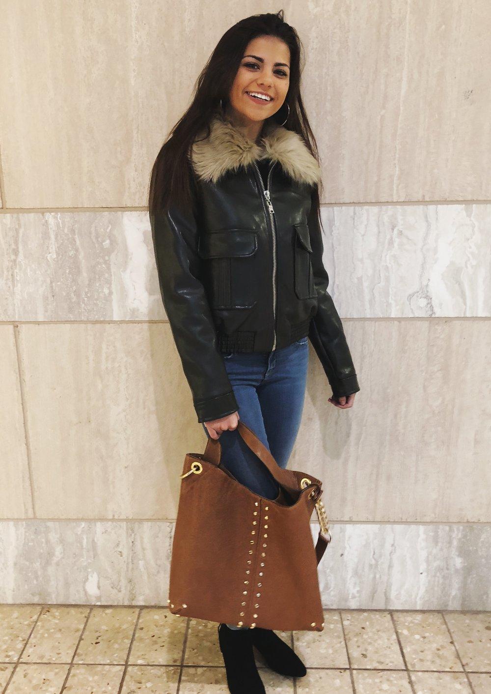 jacket / jeans / bag / shoes