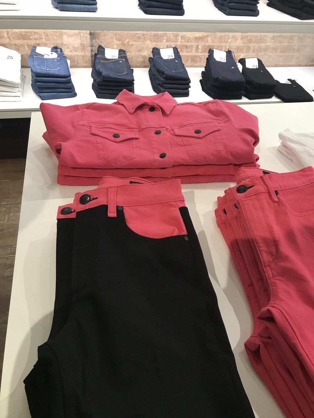 top /pink  pants / black and pink  pants
