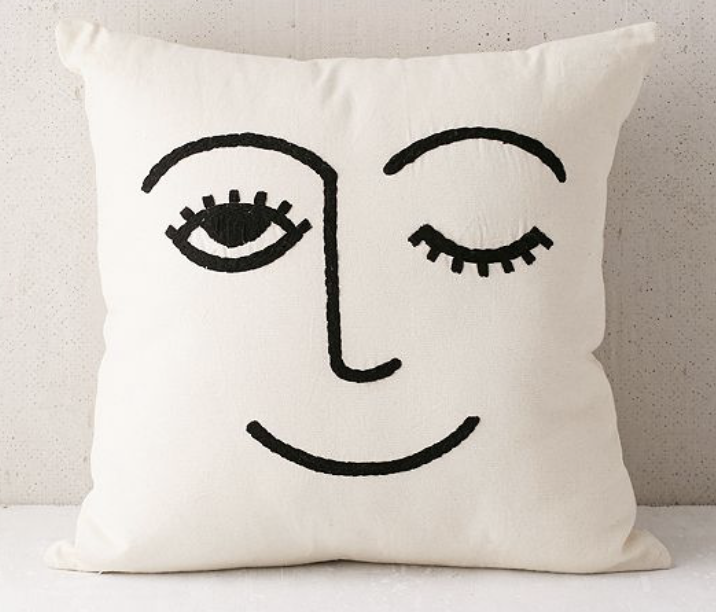 winky face pillow