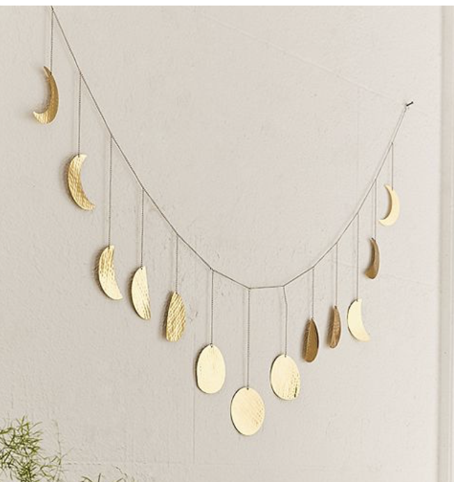 Moon cycle wall decor