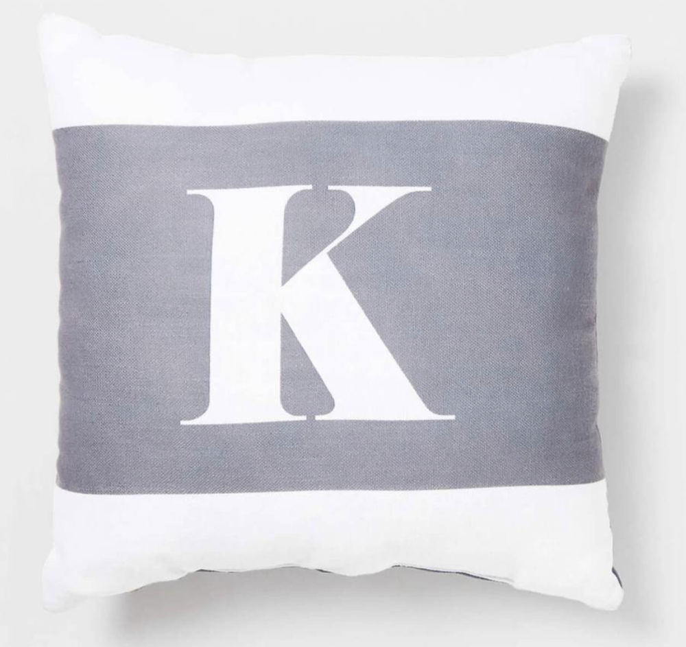 Lettered pillow
