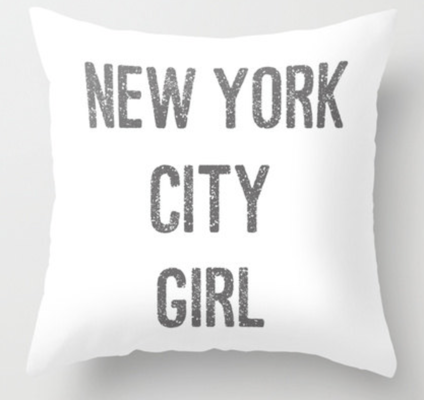 NYC girl pillow