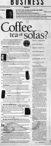 11 July 1999 - Coffee, tea or sofas Seattle Times PI Business Section f
