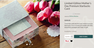 Mother's Day Premium Starbucks Card