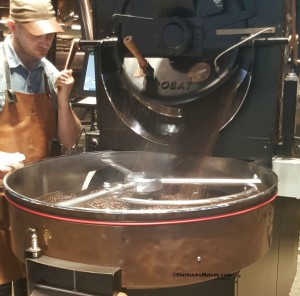 2 - 1 - 20150817_194408[1] roasted coffee coming out of the roaster
