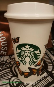 2 - 1 - Starbucks hand drawn butterfly cup