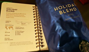 2 - 1 - 20151118_184651 Holiday Blend with page from coffee passport