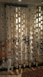 2 - 1 - 20151002_142858 wall of cups inside the Starbucks headquarters