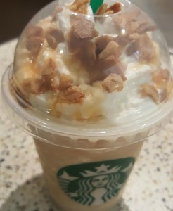 1 - 1 - 20160502_195230 waffle cone frappuccino - topping