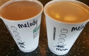 1 - 1 - 20160521_163123 milk chocolate mocha side by side with traditional mocha - Starbucks