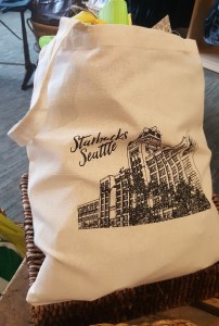 1 - 1 - 20160617_161737 new starbucks tote bag with the headquarters on it at the Starbucks coffee gear store