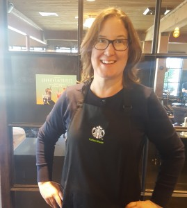 20160724_160414 solid blue cardigan starbucks eow melody
