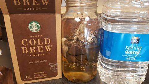 cold brew pitcher packs - satarting the experiement 9July2016