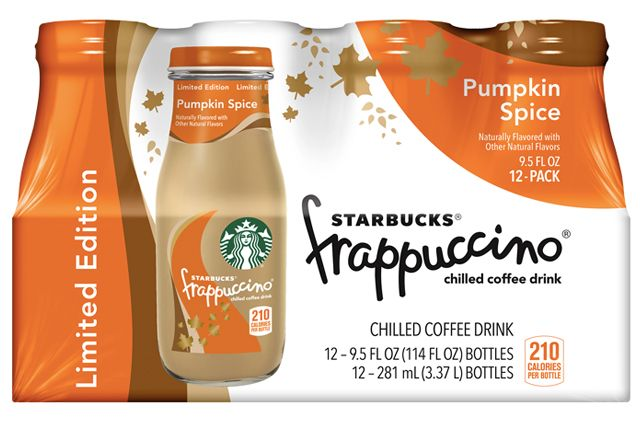 image bottled pumpkins spice frappuccino