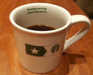 20161109_175727 Proudly Serving Those Who Served Mug Starbucks