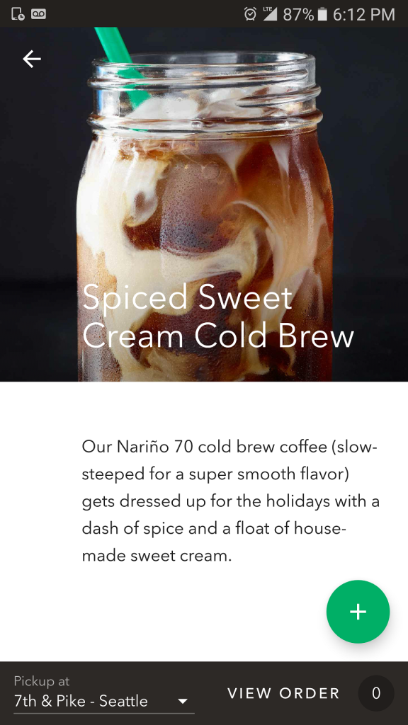 Screenshot_20161103-181256 Spiced Sweet Cream Cold Brew on the app