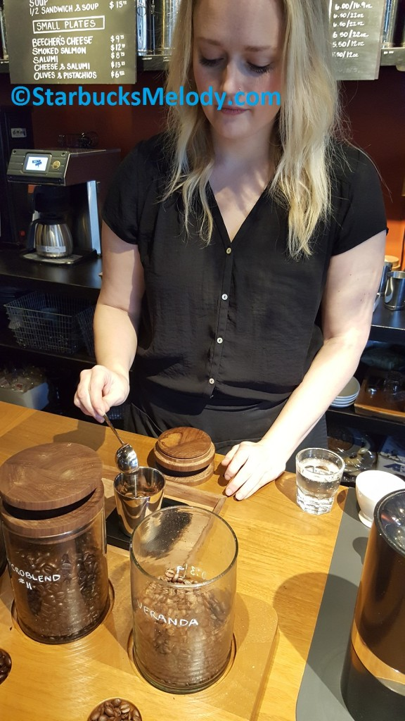 2 - 1 - 20170311_085718 Lindsey selecting the beans for my espresso