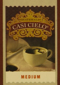 Casi Cielo coffee stamp
