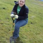 DSC06866 Kristy planting trees Cle Elum 27 April 2013