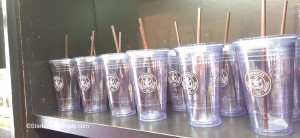 2 - 1 - Starbucks 16 ounce old logo reusable cold cups - 1912 Pike Place - 14 may 2013