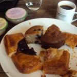 DSC07007 La Boulange - Yukan coffee in small tasting cup, and La Boulange food - 21 May 2013