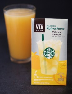 Starbucks Valencia Orange Refreshers - Via Ready Brew