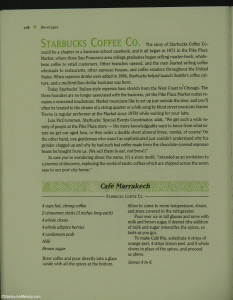 Capture_00520 1992 - Page from Pike Place Market Cookbook about Starbucks