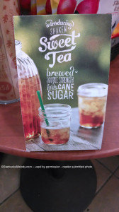 Cane Sugar Sweet Tea - North Carolina - 14 Sept 2013