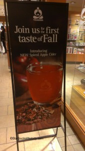 IMAG7236 Spiced Apple Cider Sign - Pacific Place Teavana