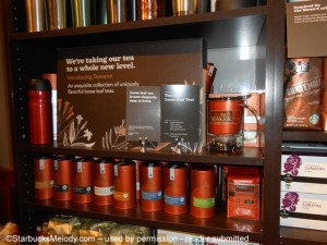 Retail Teavana inside Starbucks test - began 4 Sep 2013 - Atlanta