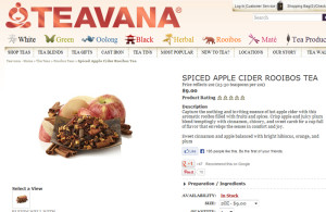 Untitled-1 Screen cap of Spiced Apple Cider from Teavana website 27 Sep 2013