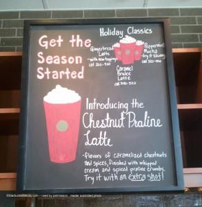 Chestnut Praline Latte menuboard