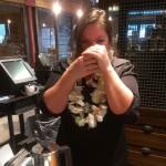 IMAG9677 Marlene smell - Kona coffee tasting 24 March 2014